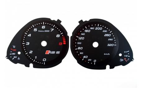 Шкалы приборов AUDI RS5
