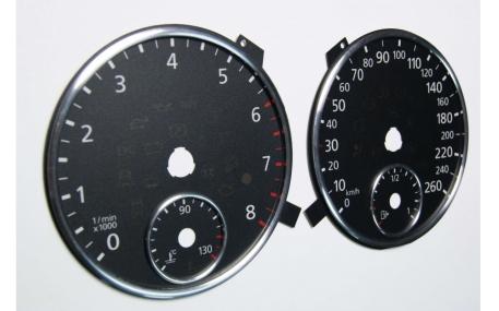 Шкалы приборов Volkswagen Tiguan