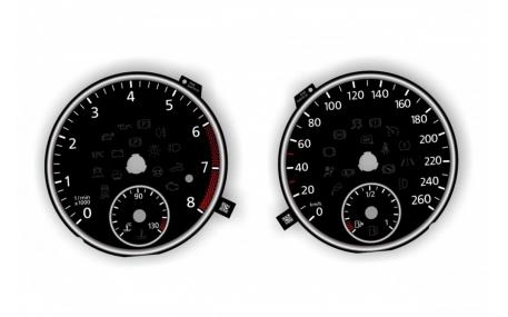 Шкалы приборов Volkswagen Eos