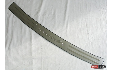 Накладка на задний бампер Mitsubishi Lancer X