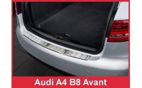 Накладка на задний бампер Audi A4 B8 2008-2012