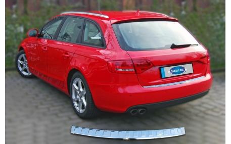 Накладка на задний бампер Audi A4 B8