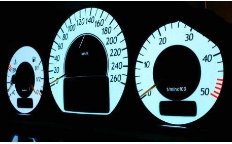 Шкалы приборов Mercedes CLK-class W208