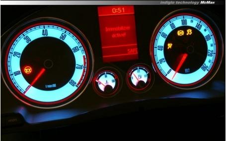 Шкалы приборов Volkswagen Golf 5
