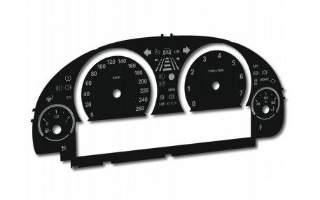 Шкалы приборов BMW F10